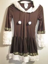 Hooded Brown Halloween Costume Dress Eskimo Kisses JR (3-5) Snow Bunny