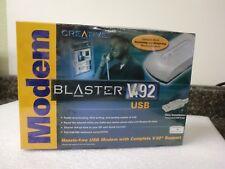 New! Creative Modem Blaster V.92 USB DE5671 External in Sealed Box