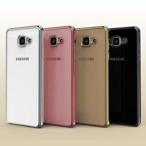 Slim Cover für Samsung Galaxy A3 (2016) Spiegelrand klar Etui Backcase Cover
