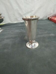 Pottery Barn Silver Plated  Flower Bud Vases. Preowned