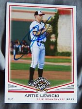 Detroit Tigers Artie Lewicki Signed 2017 Erie Seawolves Auto Card