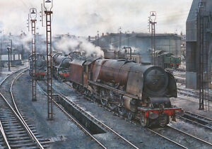 Railway Painting 'Duchess at Crewe North 1964' Steam Train print by James Green