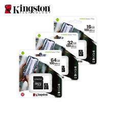 Neu Kingston 16/32/64GB MicroSD SDHC/XC C10 UHS-I A1 Speicherkarte mit Adapter
