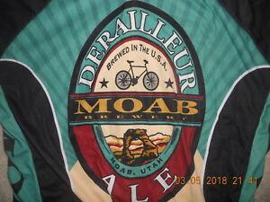Moab Brewery Cycling Bike Jersey Derailleur Ale World Jerseys Utah 3 Pockets XXL
