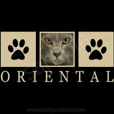 Oriental Shorthair Cat Portrait T-Shirt Tee - Men Women's Youth Tank Short Long