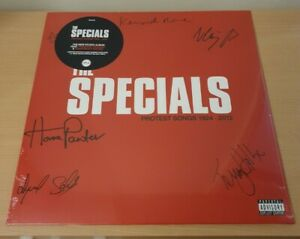 *SIGNED* THE SPECIALS VINYL LP. PROTEST SONGS 1924-2012.  HEAVYWEIGHT BLACK...
