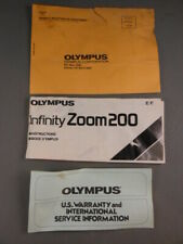 Olympus Infinity Zoom 200 35mm Camera Instructions Manual Book & Papers