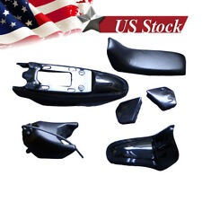 FOR YAMAHA PW50 PW 50 PLASTIC SEAT GAS TANK KIT BLACK M PS36