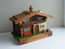 Vintage Swiss Clockwork Music Box Chalet House Ghedina Reuge