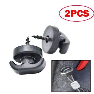 2PCS Tie Down Hook Loop Clips Ring Screws For Rear Trunk Boot Cargo Envelope Net