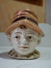 tirelire a casser majolica barbotine made in czechoslovakia personnage buste