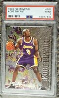 1996-97 Fleer Metal #181 Kobe Bryant Los Angeles Lakers RC Rookie PSA 9 MINT