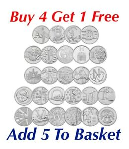 10P A-Z ALPHABET 10 PENCE 2018 & 2019 COINS -CHOOSE YOUR COIN BUY 4 GET 1 FREE