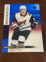 2019-20 Upper Deck SP Barrett Hayton Rookie Authentics RC Blue Foil #130