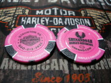 Harley Neon Pink & Black Poker Chip Shenandoah Harley Davidson Staunton, VA
