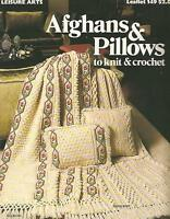 Afghans & Pillows to Knit & Crochet Vintage Patterns Marion Graham LA #149