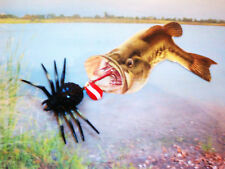 """CRAFTED BY SELLER BLACK  SWAMP WOOD SPIDER , ALL  GAME FISH LURE 3 """" x 2 1/2"""""""
