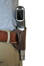 Pro-Tech Brown Leather Quick Draw Belt Slide Gun holster For Colt Commander 1911