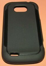 Soft Black Gel case for Straight Talk ZTE Z750C, Black Matte Finish, slip on