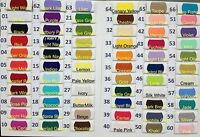 Plain Solid POLYCOTTON FABRIC 2.50 PER METRE Lowest Price on Ebay 66 colours !!!