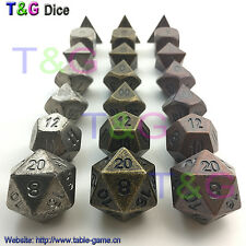 Old Style Metal Polyhedral Digital Dice for RPG Table Game High Quality 3 SETS