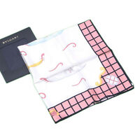 Bvlgari scarf White Pink Woman Authentic Used L1149