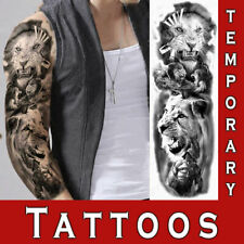 Temporary Tattoo Large Sleeve Realistic Look Tribal Lion Ornament Tiger sticker