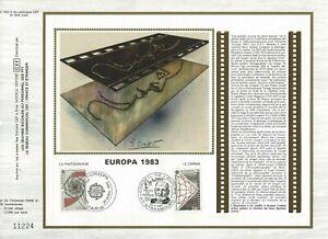 FEUILLET CEF 1er JOUR SUR SOIE FRANCE EUROPA 1983