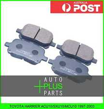 Fits TOYOTA HARRIER ACU10/SXU10/MCU10 1997-2003 - Pad Kit, Disc Brake, Front
