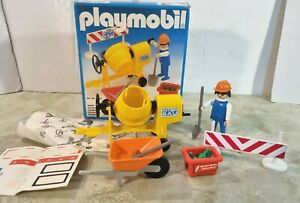 Playmobil 3562 Baustelle Bauarbeiter Betonmischer mit OVP aus 1982