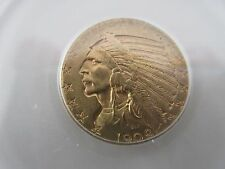 1909-D , Indian Head , $5 , Half Eagle