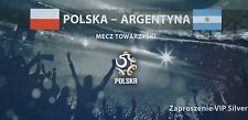 VIP TICKET 5.6.2011 Polska Polen - Argentina Argentinien