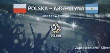 Vip ticket 5.6.2011 polska pologne-ARGENTINA ARGENTINE