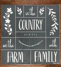 Wreath Trio Country Mesh Adhesive Silkscreen Stencil 12 x 12 inches - Reusable