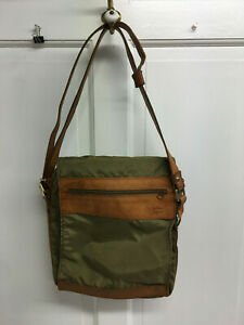 VTG HARTMANN LUGGAGE CROSS BODY BAG 10 x 12 X3 INCHES NYLON AND BELTING LEATHER