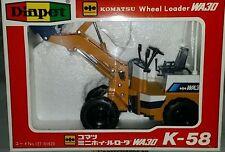 Diapet Komatsu loader WA 30 1/25 Scale Model by Yonezawa NIB