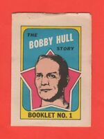 1971-72 O-Pee-Chee OPC  # 1 Bobby Hull  Booklet  Exmt