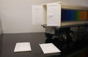2 New White Schaper Stomper Road Kings Semi Truck TRAILER DOORS (3D Printed)