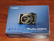 Open Box - Canon PowerShot SX100 IS 8.0MP Camera - BLACK - 013803087758