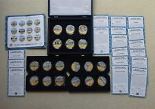 More details for london iconic numisproof 18 medal 24 ct gold plated collection