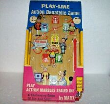 """1970 Vintage (Marx Toys) """"Play-Line"""" (Marbles) """"Action Bagatelle Game"""", Pinball"""