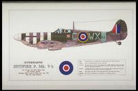 419003 Supermarine Spitfire F Mk V B A4 Photo Print