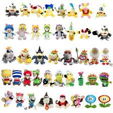 Super Mario Bros Bowser Koopalings Koopa Piranha Toad Pokey Plush Toy Optional