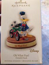 Hallmark 2008 Disney Donald Builds a Bike Oh What Fun Ornament New in Box