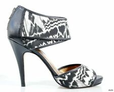 new $355 CYNTHIA VINCENT black/white back zipper platforms shoes 9.5 - gorgeous