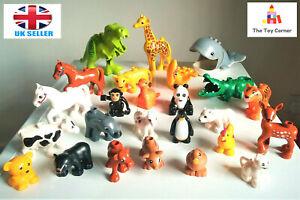 Lego Duplo compatible Animals Safari Zoo farm Dinosaur bundle set 1. New