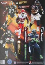 NFL Running Backs 9'' Players Fathead Teammates Vinyl Wall 11 Decal Set