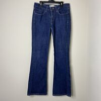 Levi's Juniors Size 7M 518 Superlow Blue Dark Wash Boot Cut Leg Denim Jeans