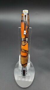 Fountain Pen Handmade With Banksia Nut, 24kt Gold Nib.
