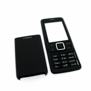 for Nokia 6300 battery cover and housing black english keypad